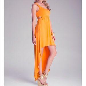 Bebe bright orange maxi dress